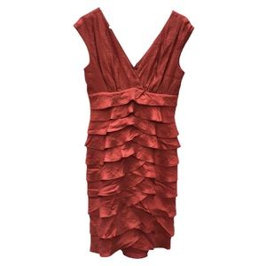 Dressbarn size 8 burgundy ruffle mini dress